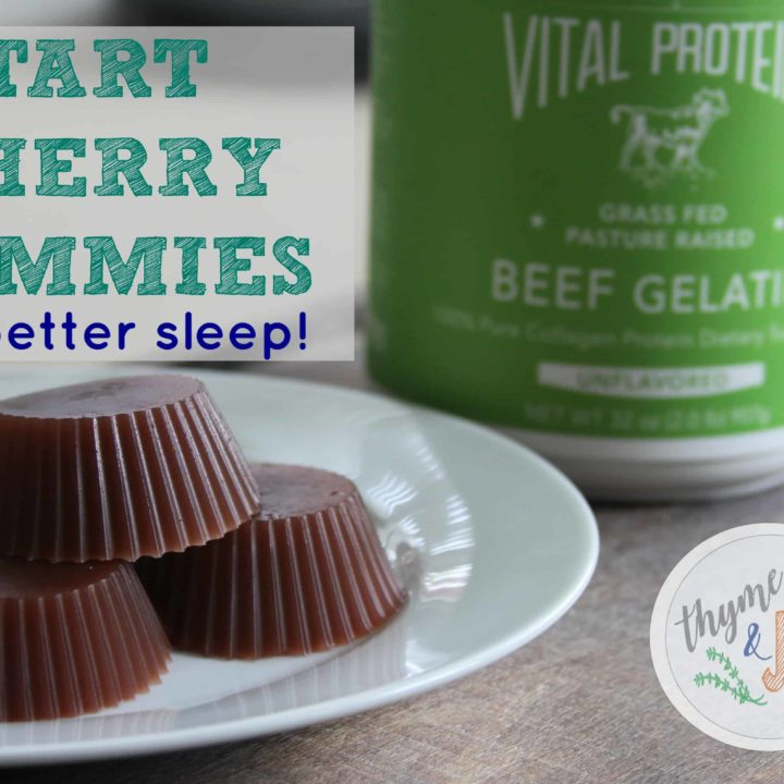 These tart cherry gummies are a fun way to pack a does of relaxing recovery nutrients for better sleep and recovery! | Thyme + JOY