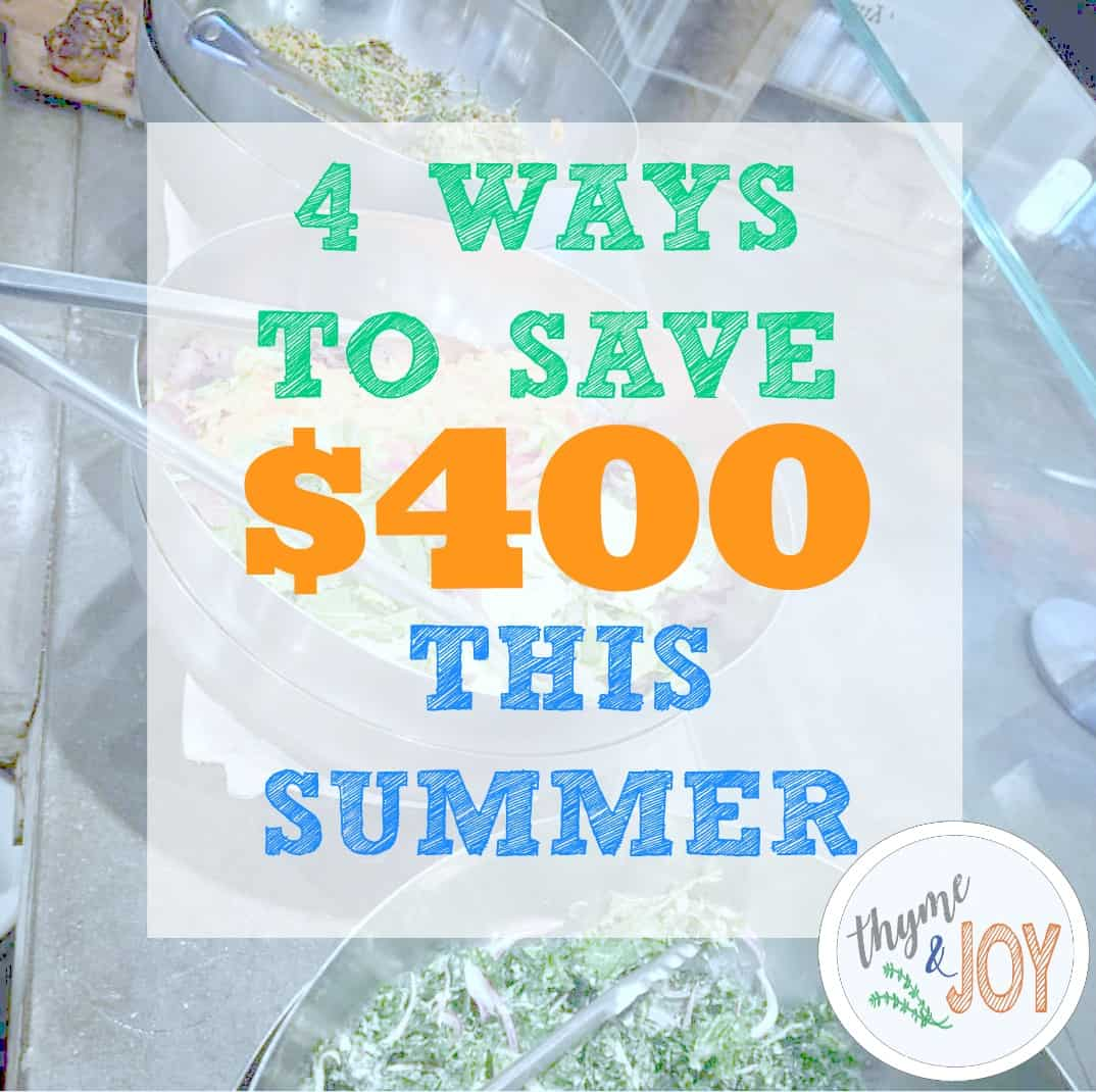 Tips on ways to save money this summer that don't have you changing your quality of life. 4 money saving tips for the summer time | Thyme + JOY