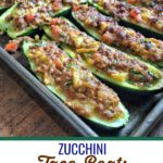 These easy zucchini taco boats make it easy to bring back taco Tuesday or taco any day when you're practicing a paleo, whole30 or keto lifestyle. #paleo #whole30 #keto