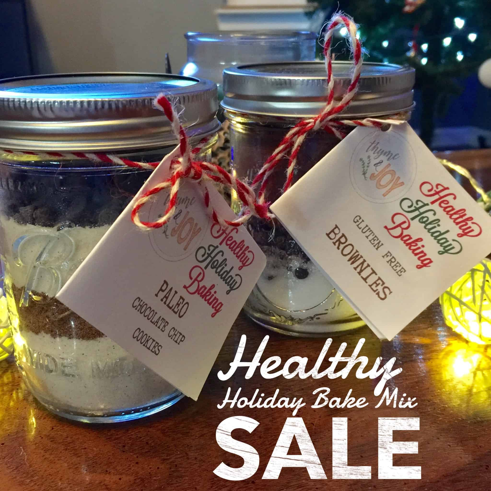 Tis the season for baking! Thyme + JOY is launching two healthy holiday baking mixes for sale in Charleston, SC and surrounding areas.