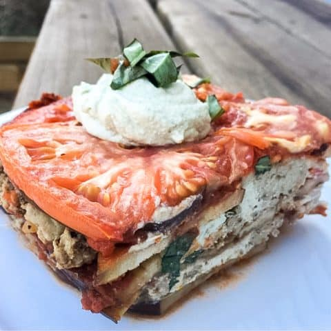 low carb eggplant lasagna
