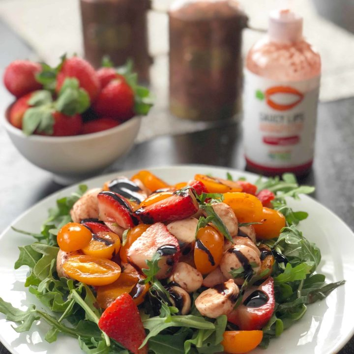 Strawberry Balsamic Caprese Salad