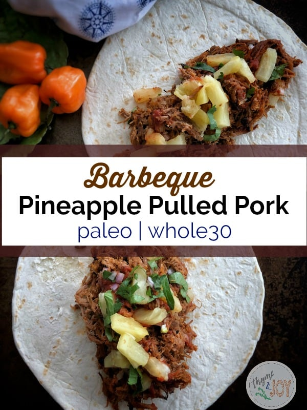 BBQ Pineapple Pulled Pork | Paleo + Whole30