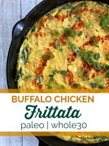 This buffalo chicken frittata can be eaten for every meal of the day! #whole30 #paleo #keto #glutenfree