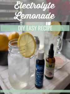 This homemade electrolyte lemonade contains body quenching sodium, magnesium, potassium and concentrated trace minerals you may be missing out on! | Thyme + JOY