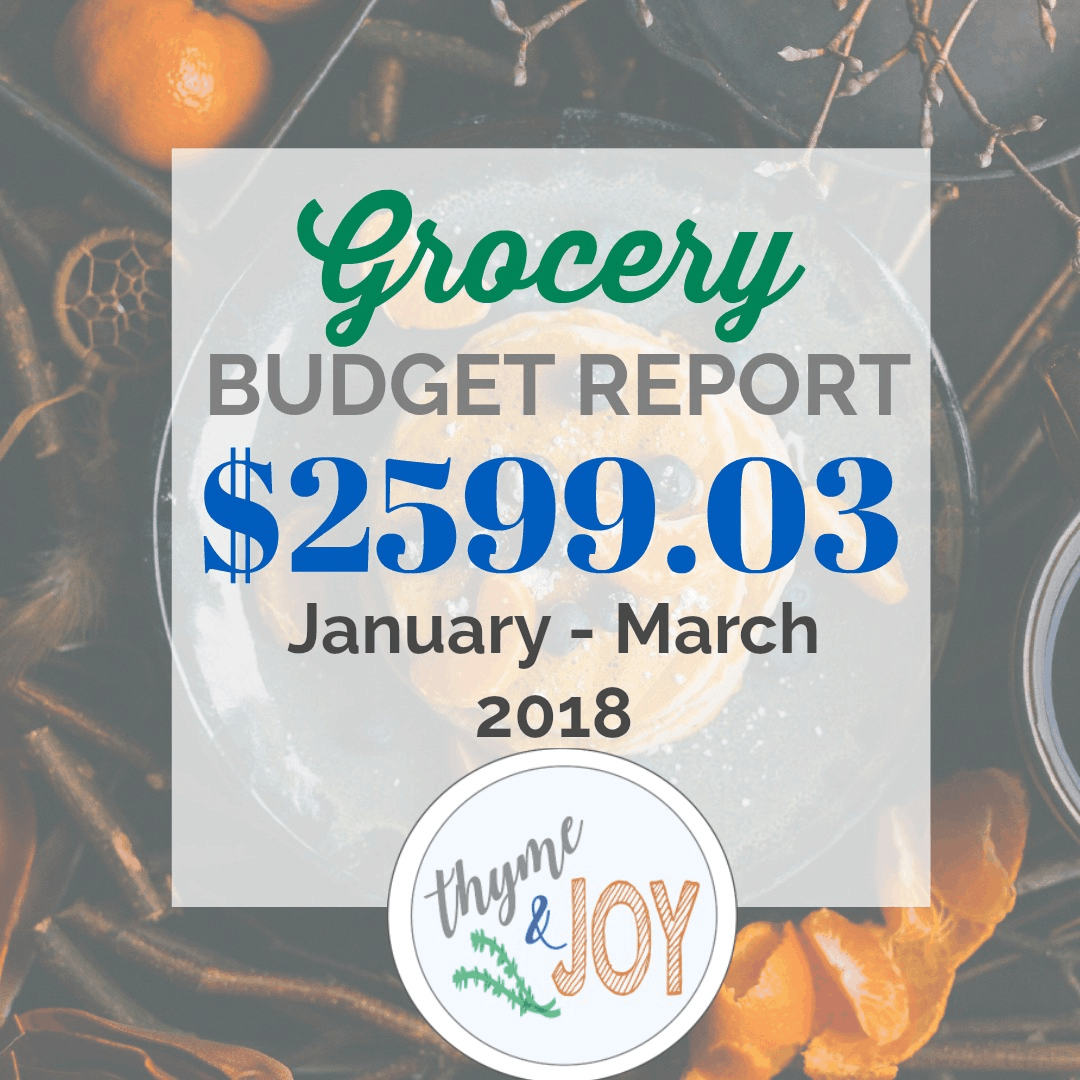 Grocery Budget Report  Jan-March 2018