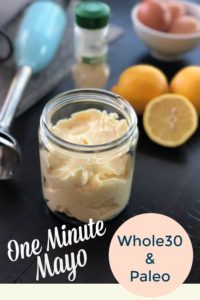 This recipe for one minute mayo is perfect as the base for sauce, dressing and other condiments. A whole30 compliant life saver recipe.