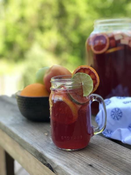 Virgin Sangria Mocktail recipe from Thyme & JOY