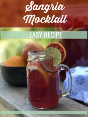 This virgin sangria mocktail packs so much fruity flavor that you won't miss the real thing. Enjoy on a Whole30 reset at a warm summer or spring event!