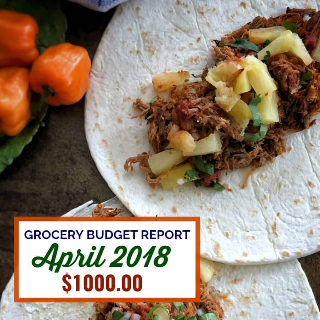 Grocery Budget Report April 2018 | Food & Dining Out