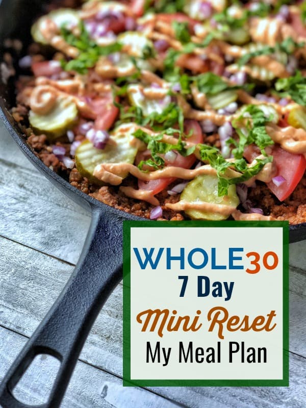 Whole30 Mini-Reset | My 7 Day Meal Plan