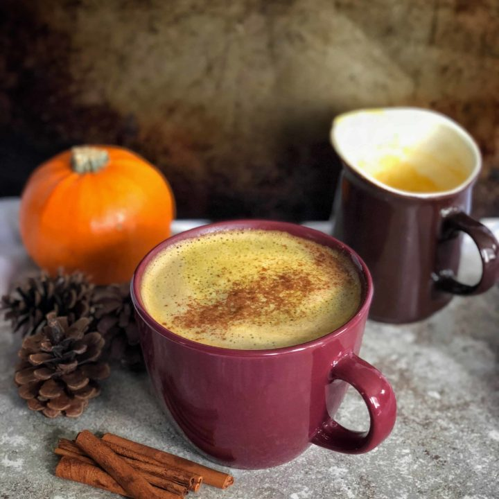This vegan pumpkin spice creamer combines coconut cream, and almond milk to make a luxurious creamer for your coffee and tea perfect for any season. #vegan #paleo #whole30 #keto #glutenfree #pumpkinspice