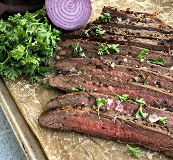 Reverse Sear Steak | Flank Steak in Oven Recipe