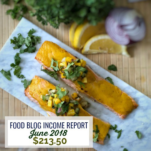 Blog Income Report June 2018 | Food Blog Side Hustle