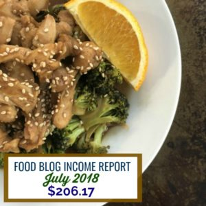 Food Blog Income Report July 2018 | Find out how I made over $200 on my food blog in July #blog #food #foodblog