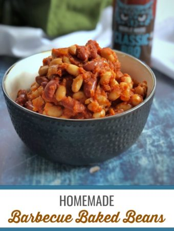 These BBQ baked beans are easy to make and can be customized to your liking by adding the sweetness and BBQ sauce of your choice.#glutenfree