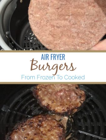 frozen and cooked hamburger in air fryer