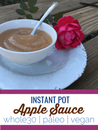 This instant pot applesauce has only one ingredient and can be customized to your taste or added to sauces and condiments as a sweet component. #whole30 #paleo #vegan