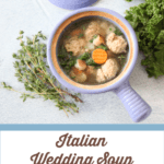 This Italian wedding soup is warming, comforting and full of clean ingredients.  #paleo #whole30 #soup