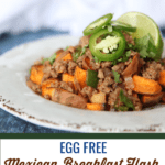 This Mexican breakfast hash is a perfect change up from the regular breakfast routine and contains no eggs. #whole30 #paleo #glutenfree
