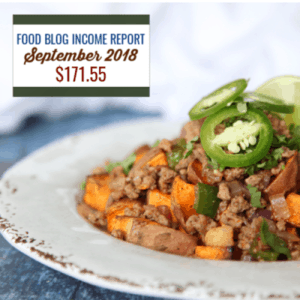 Blog Income Report September 2018 : Find out how I made $171.55 through my blog with various strategies. #foodblog #blogging #foodblogger