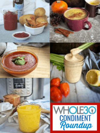 This Whole30 condiment roundup is a perfect resource to help you flavor your Whole30 reset.  #whole30