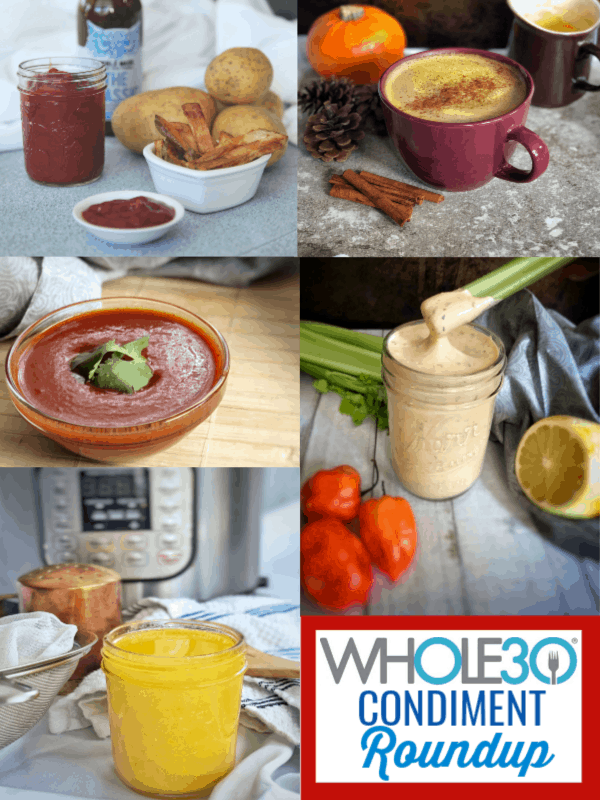 My favorite condiments to flavor your Whole30 that include homemade and store-bought options. #whole30