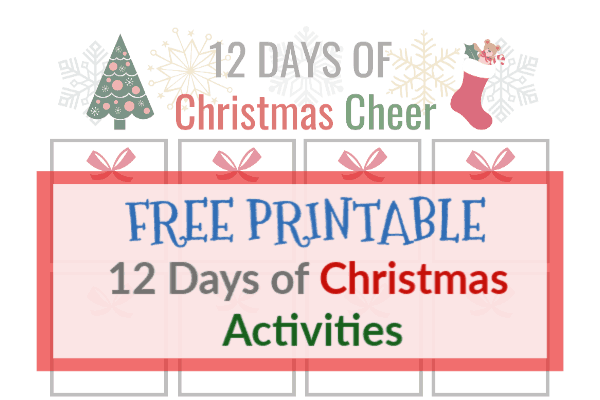 photograph about 12 Days of Christmas Printable identified as 12 Times of Xmas Cheer No cost Printable Thyme and Contentment