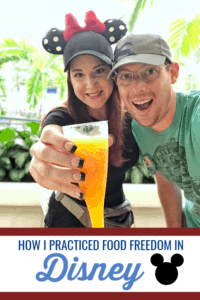 Find out how I was able to stay balanced and practice food freedom during the food and wine festival in Disney World. #foodfreedom #disney #healthyeating