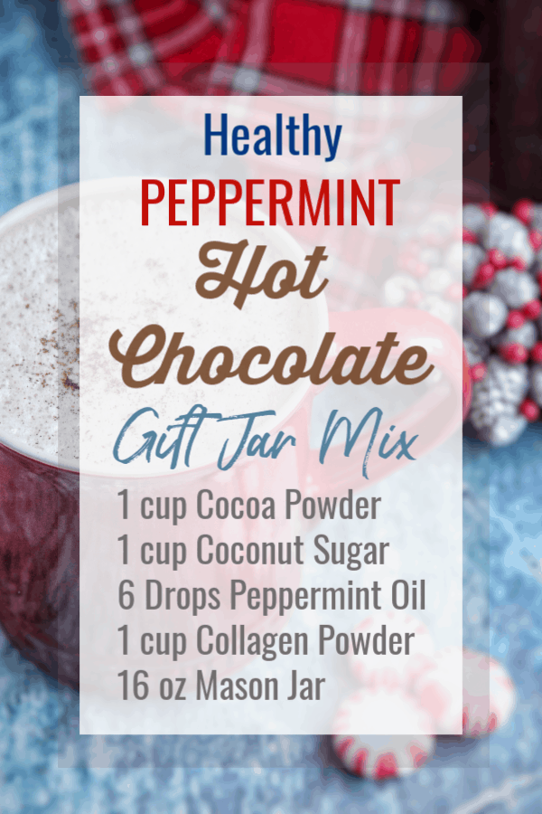 This peppermint hot chocolate is the perfect way to warm up during the holidays. Using just a few pantry ingredients you can whip up a healthier treat that packs a punch with all the benefits from collagen. #paleo #hotchocolate #mocha #collagen