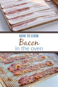 Learn how to cook bacon in the oven which is a total kitchen game changer. Using just a rimmed baking sheet and bacon, you'll be able to batch cook bacon so you can eat it, store it or use it for all of your low carb meals.