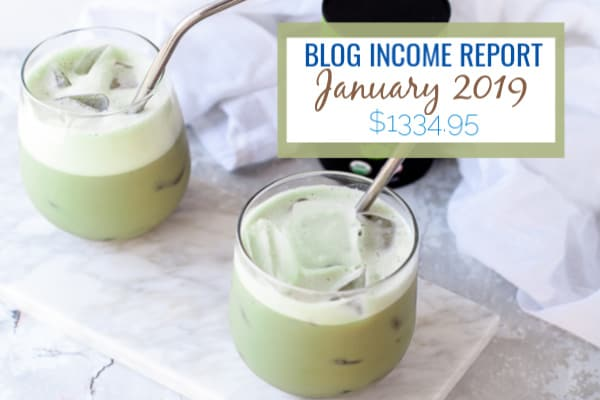 Matcha Tea with blog income report numbers
