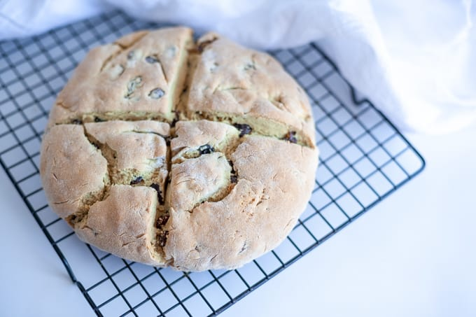 This gluten free Irish soda bread is an easy Irish staple perfect for breakfast or with meals especially during St. Patrick's Day.