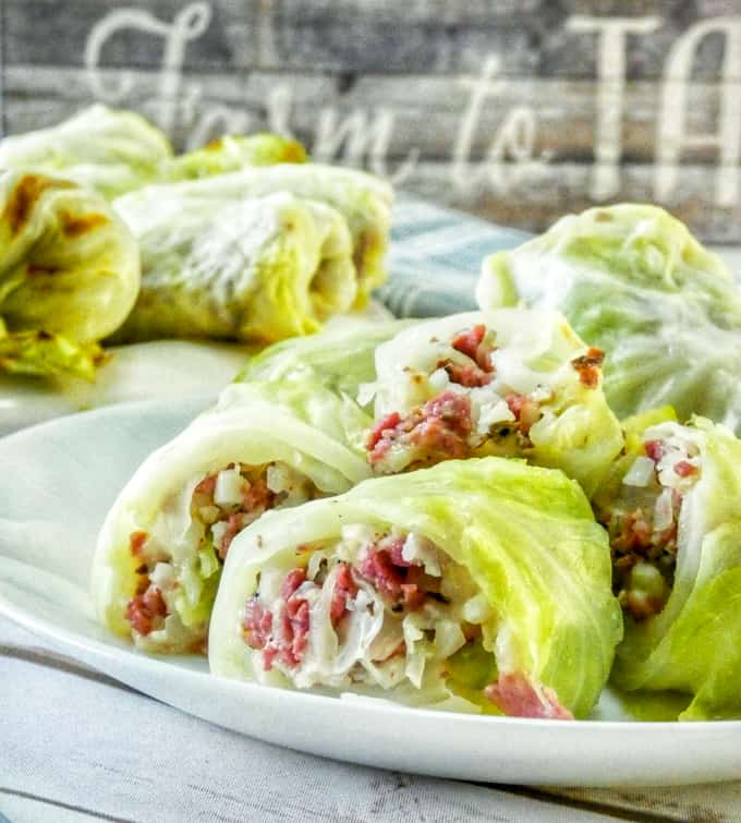 With these crazy good Keto Reuben Cabbage Rolls, you're getting all of the classic Reuben flavors without the extra carbs. This tasty gluten-free appetizer is perfect for St.Patrick's Day or any day of the year!