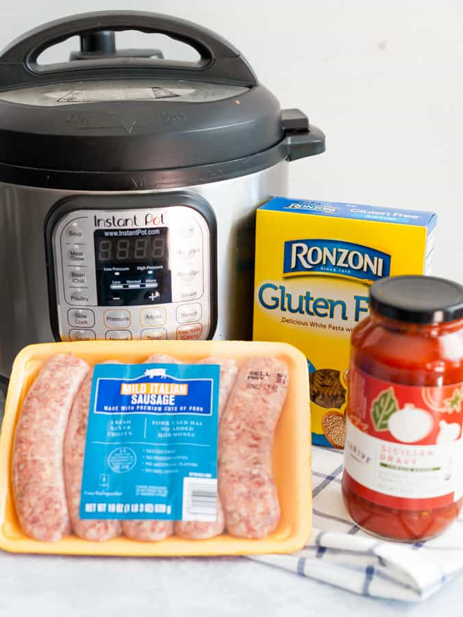 instant pot pasta with meat sauce  one pot meal gluten free