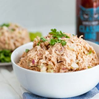 Shredded BBQ Chicken Salad
