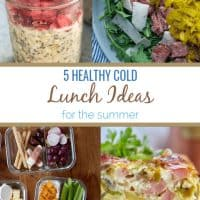 5 healthy cold lunch ideas