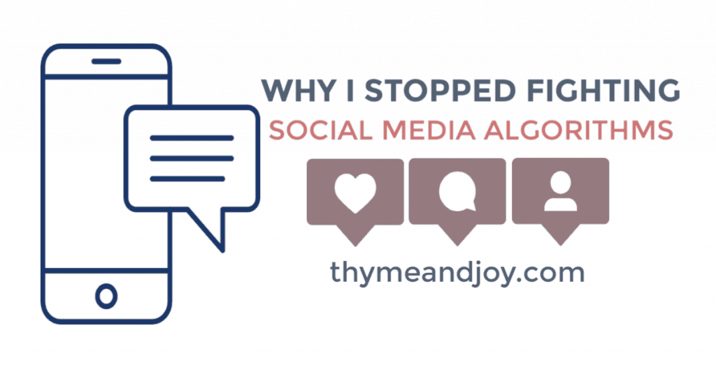 Why I stopped fighting social media algorithms