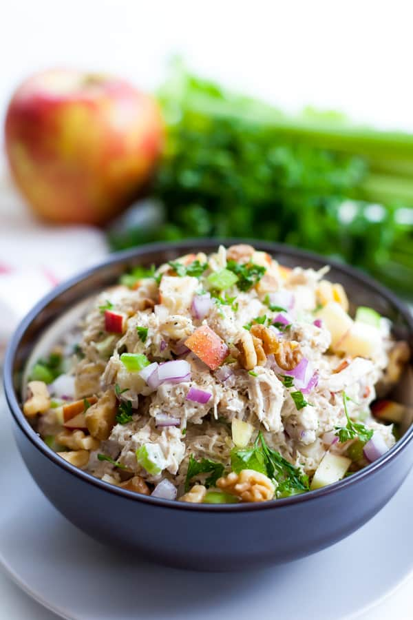 Chicken Salad With Apples And Walnuts Whole30 Paleo
