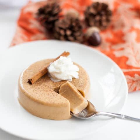Dairy Free Pumpkin Panna Cotta