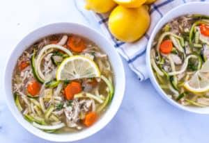 slow cooker lemon chicken soup