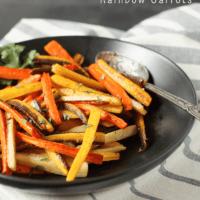 Garlic Roasted Rainbow Carrots (Paleo & Vegan)