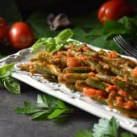 Green Beans with Tomatoes -Italian Style