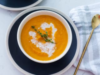 vegan carrot ginger soup