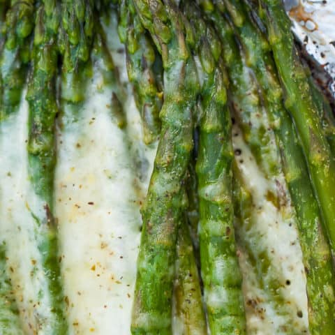 Cheesy Grilled Asparagus In Foil