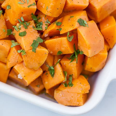 Sous Vide Sweet Potatoes