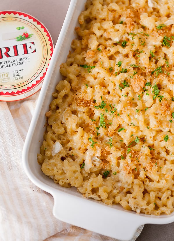 creamy brie with pasta