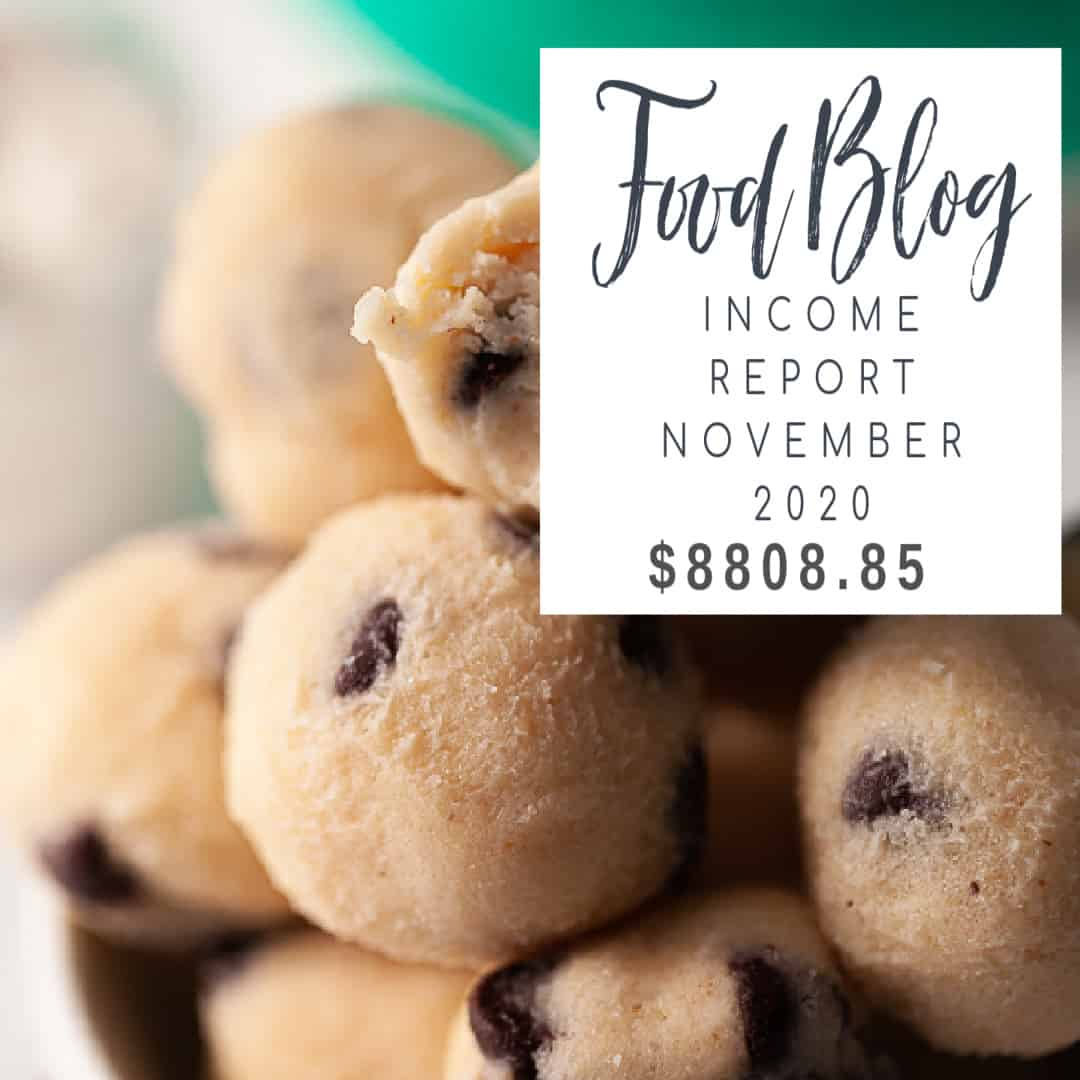 blog income report cookie dough