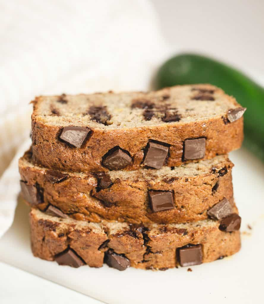 zucchini banana bread with chocolate chips