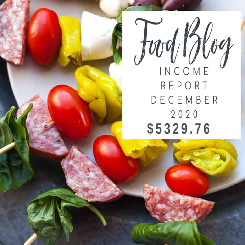 food blog income report 2020